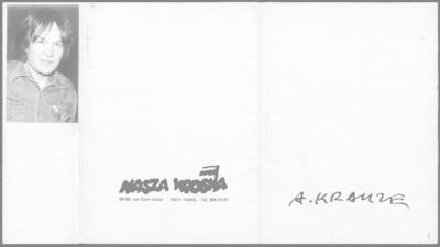 Prace Andrzeja Krauzego wydane w formie pocztówek [nazwa red.].