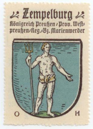 Image from object titled Znaczek pocztowy - Zempelburg