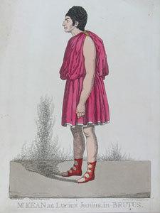 Mr Kean as Lucius Junius, in Brutus.
