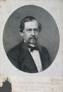 Graf v. Platen-Hallermund General-Intendant des Kgl. Hoftheaters in Hannover.