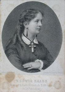 Hedwig Raabe Mitglied d. Kaiserl. deutsch. Hoftheaters in St. Petersburg.