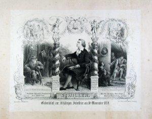 Schiller. Gedenkblatt zur 100jährigen Jubelfeier am 10.ten November 1859.