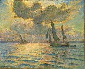 Heimwärts (heimkehrende Fischerboote in der Kieler Förde)