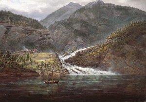 Blick auf den Tyssefoss im Bolstadfjord