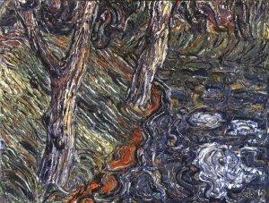 Bäume am Flußrand