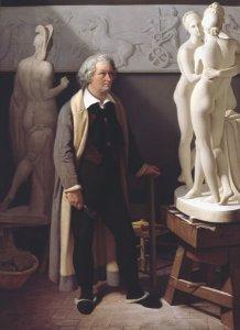 Bertel Thorvaldsen in seinem Atelier in Rom