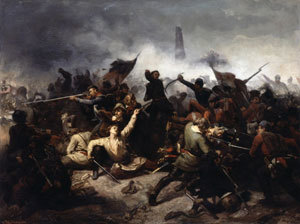Das Gefecht bei Bau, 09. April 1848