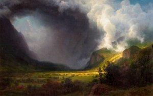 Aufziehendes Gewitter/Sunlight through Storm