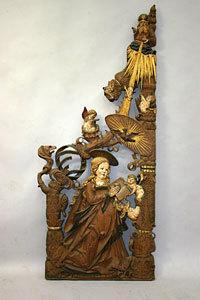 Maria - Schalldeckel der Kanzel der Marienkirche