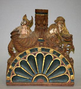 Aufsatzlünette - Schalldeckel der Kanzel der Marienkirche