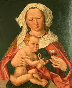 Maria mit Kind - linker Flügel eines Diptychons