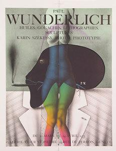Ausstellungsplakat Paul Wunderlich