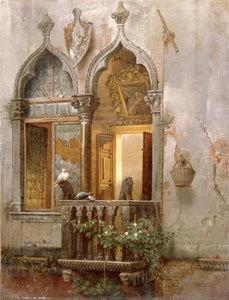 Fenster eine venezianischen Palastes