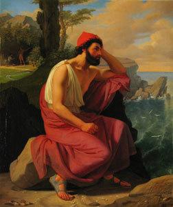 Odysseus auf der Insel der Kalypso