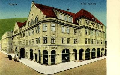 Image from object titled Braşov : hotel Coroana [material iconografic]