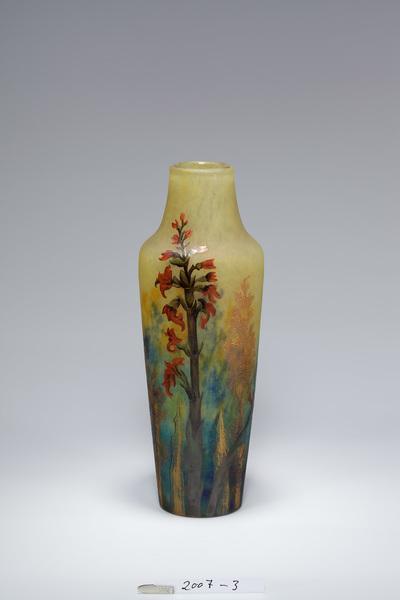 Vase mit Orchideendekor