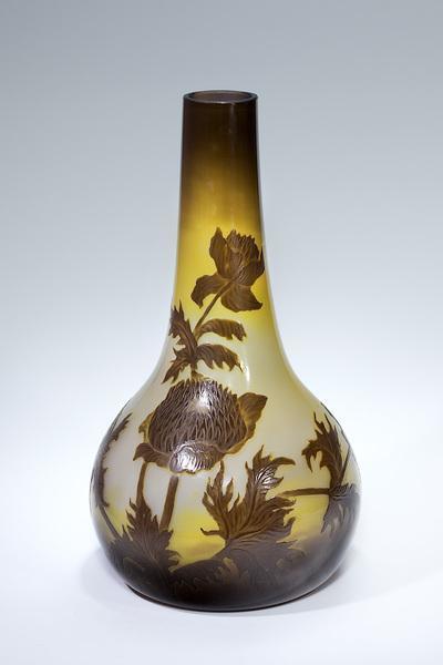 Vase mit Disteldekor