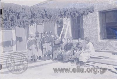 Image from object titled Workers in a textile factory