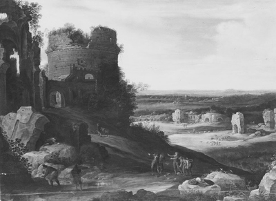 Image from object titled Italienate Landscape with Ruins