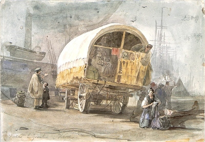 Image from object titled Tyska emigranter i Havre