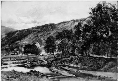 Landskap från Mont d'Or, Auvergre