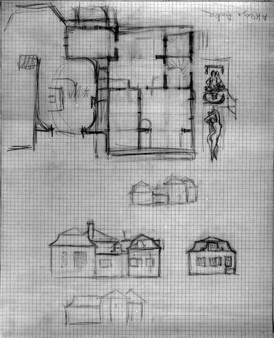 Arkitektur. Skisser till Villa Akleja