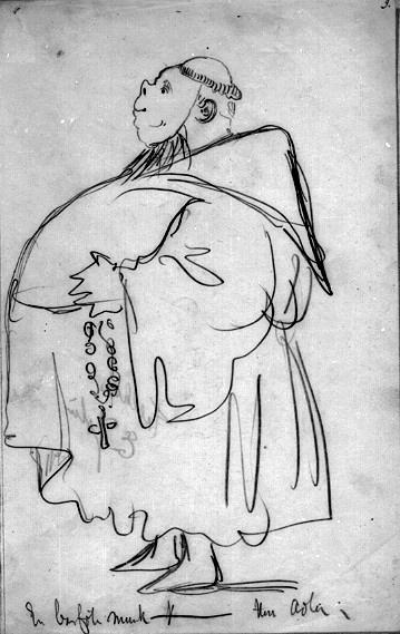 "En barfota munk. Ur Johan Jolins ""Ung-Hanses dotter"""