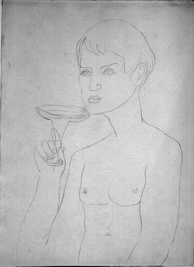 Ynling med champagneglas