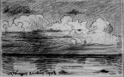 Molnstudie (Öland), 1903
