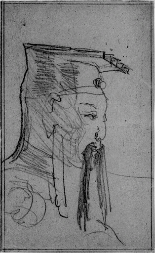 Kineshuvud i profil
