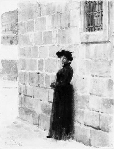 Svartklädd kvinna