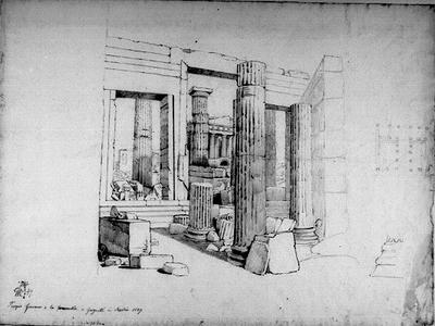 Tempelruiner vid Girgenti