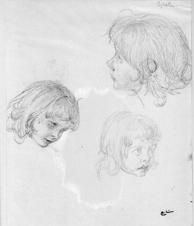 Tre flickhuvuden