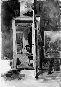 Interiör från konstnärens ateljé
