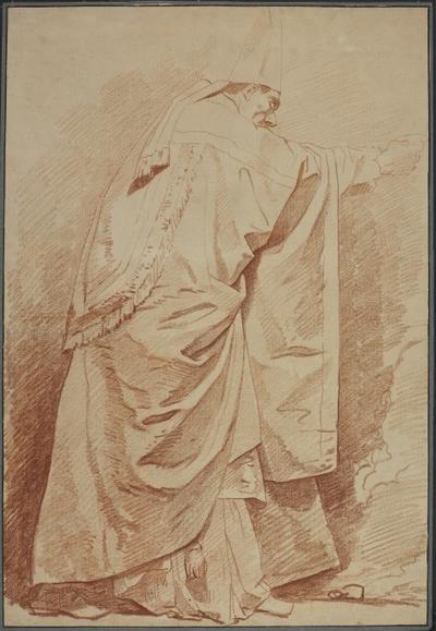 Dräktstudie, stående biskop
