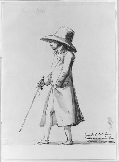 Gustav III om morgonen när han kommer till min ateljé