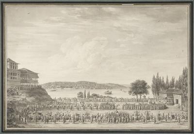 Den heliga kamelens procession vid Bosporens strand