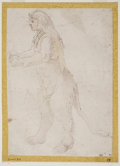 Sfinx stående upprätt