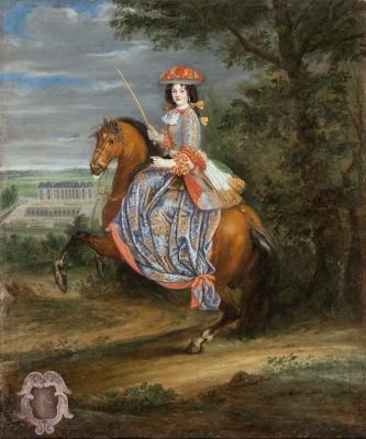 Madame La Duchesse De Bouillon. Oljemålning på duk.