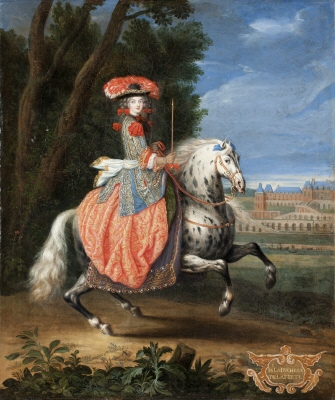 Madame La Duchesse de la Ferte´, f.1654. Oljemålning på duk.