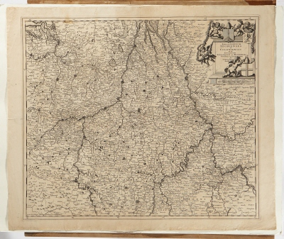 6551d910d854 Karta över delar av Tyskland, Frankrike, Holland, Belgien och Luxemburg.