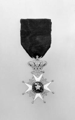 Ordenstecken för riddare av Nordstjärneorden, Sverige, 1800-talets mitt.