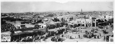 Vue générale. Marrakech (Maroc), vers 1900.