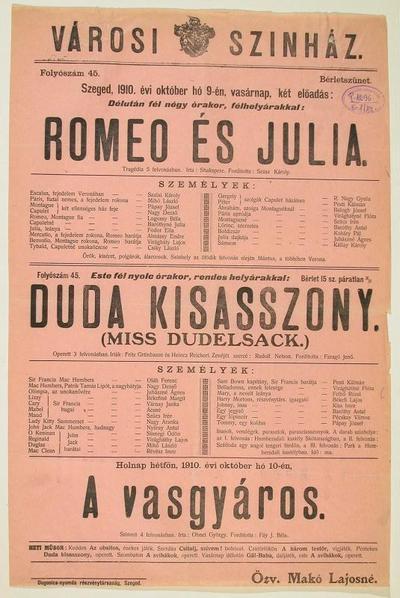 Romeo és Julia ; Duda kisasszony (Miss
