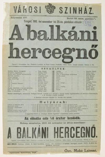 A balkáni hercegnő