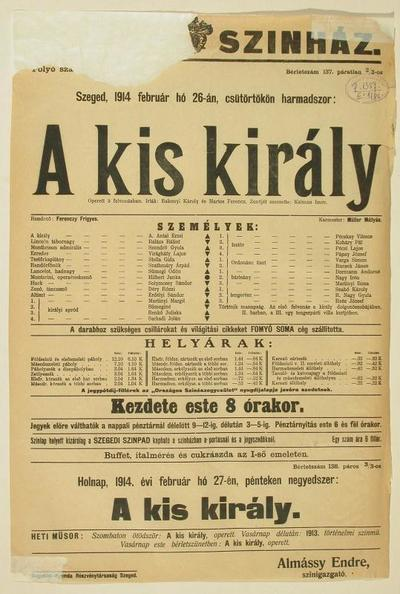 Image from object titled A kis király