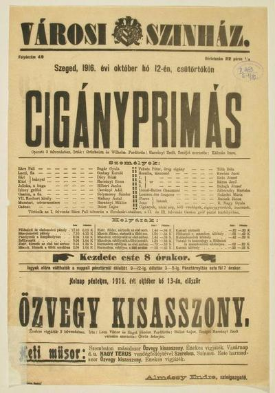 Image from object titled Cigányprimás
