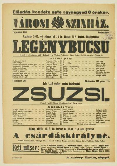 Legénybucsu ; Zsuzsi