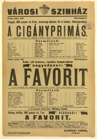 Image from object titled A cigányprimás ; A favorit