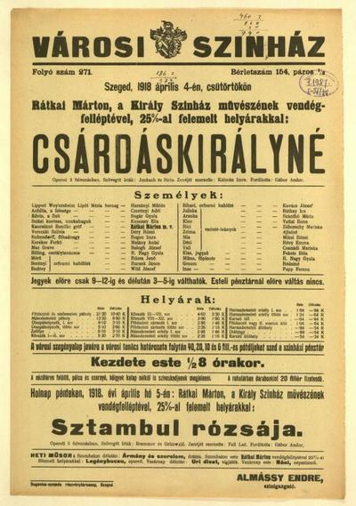 Image from object titled Csárdáskirályné